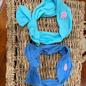 2 baby bling blue headbands